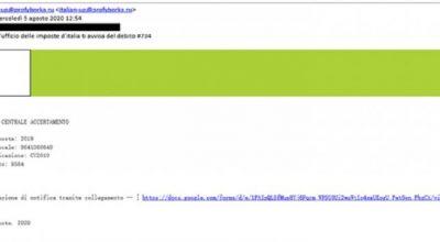 Tentativi di phishing: attenzione! Non cliccate sul link e cestinate
