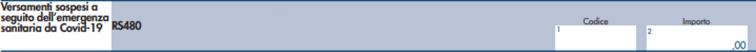 modello redditi PF 2021- rigo RS 480
