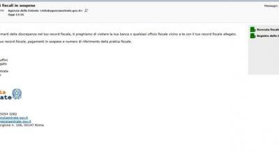 Attenzione: nuove email truffa su pagamenti fiscali in sospeso